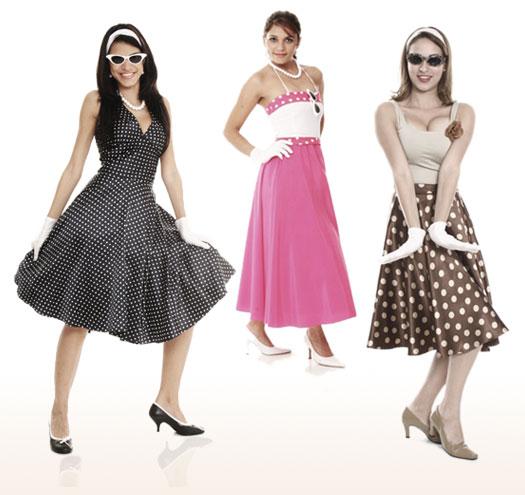 Roupas coloridas anos 50 (Fashion Biblles)
