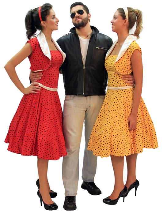 Modelos coloridos de roupas dos anos 50 (Foto: Aprendda)