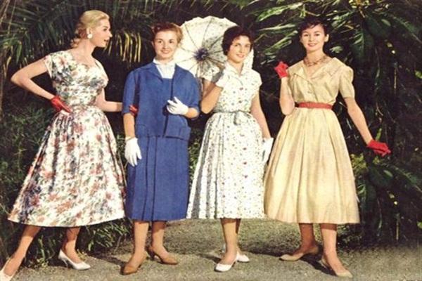 Vestidos com estilo dos ano 50 (Foto: Divulgação Moda História)