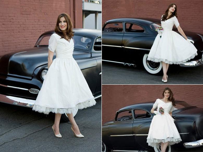 Vestido rodado dos anos 50 (Foto: Ilustração)