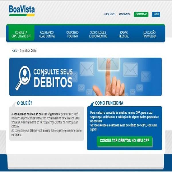 Site Boa Vista para fazer consulta grátis. (Foto: Divulgação)