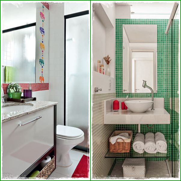 decoracao de lavabo simples : Banheiros decorados pequenos