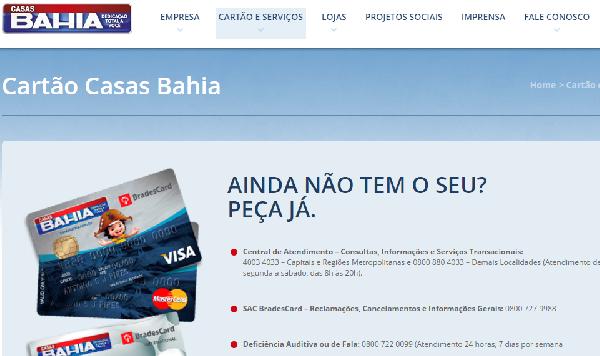 Faça seu cartão Casas Bahia e aproveite as vantagens (Foto Divulgação: Casas Bahia)