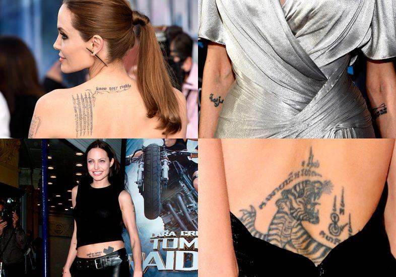 Mais tatuagens de Angelina (Foto: Mdemulher)
