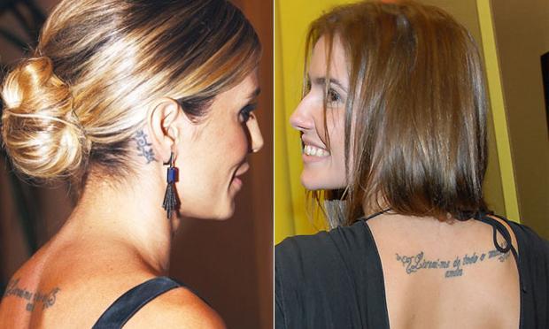 mais um exempl oda tatuagem das famosas (Foto: Mdemulher)