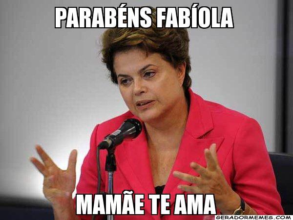 Mais piadas sobre Fabíola (Foto: Ilustração Internet)