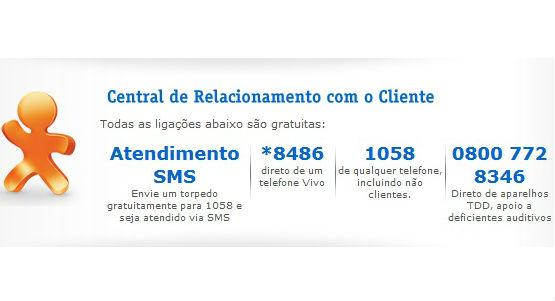 Informações para atendimento VIVO (Foto: Divulgação)