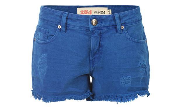 Shorts azul lindo (Foto: Mdemulher)