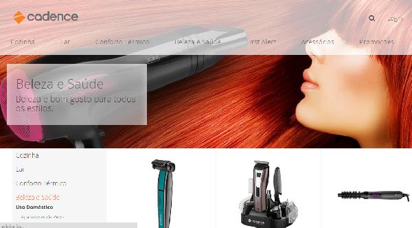 A Cadence disponibiliza o site para atendimento e compras online (Foto: Divulgação Cadence)