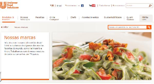 O site oferece dicas e receitas (Foto Divulgação: Unilever)