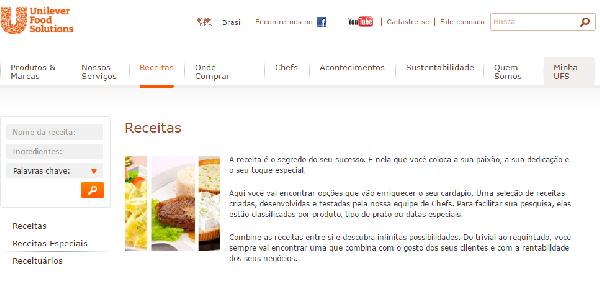 O site da Unilever tem inúmeras opções inclusive para cadastro de currículo (Foto Divulgação: Unilever)
