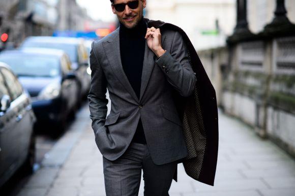 Os homens geralmente optam por looks mais elegantes na época de frio (Foto Ilustrativa)