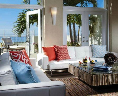 A casa de praia pode ser tão bem decorada como a sua residência fixa (Foto Ilustrativa)