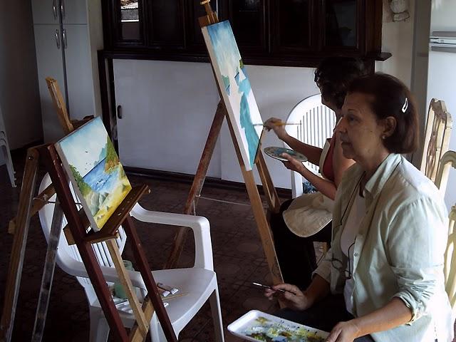 O curso de pintura com tinta a óleo de graça pode estar mais perto de você do que imagina. Confira junto a Prefeitura do seu município e centros culturais (Foto: Divulgação)