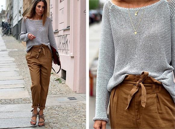As roupas estão mais soltinhas. (Foto: Reprodução/Lookbook.nu)