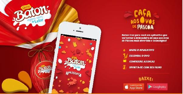 Veja o aplicativo da Garoto (Foto: Site da Garoto)