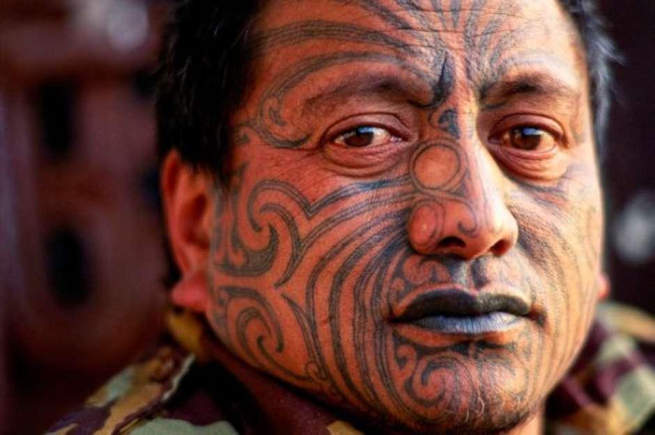Exemplo de tatuagem maori (Foto: Site Terra)