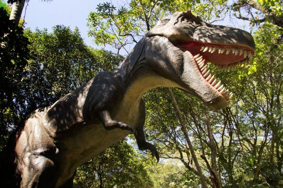 A exposição Mundo dos Dinossauros faz um grande sucesso (Foto: Divulgação Fundação Parque Zoológico de São Paulo)