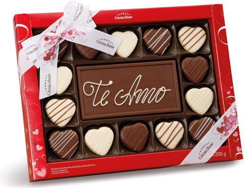 Chocolates Cacau Show Dia dos Namorados (Foto: Divulgação)