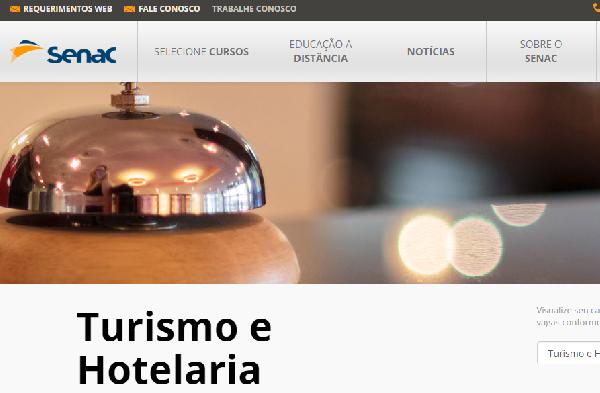 Curso SENAC de Turismo e Hotelaria (Foto Divulgação: SENAC)