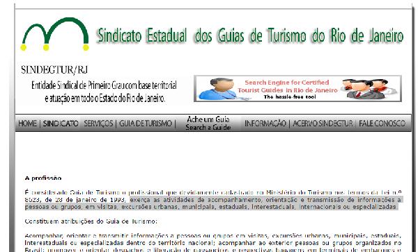 O profissional Guia de Turismo deve se cadastrar no Ministério do Turismo (Foto Divulgação: SINDEGTUR/RJ)