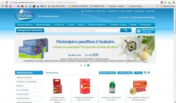 A Ultrafarma disponibiliza sua loja online (Foto: Divulgação)