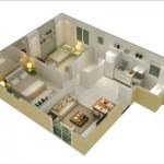 Modelos de 2 quartos variam de acordo com o projeto do profissional (Foto Ilustrativa)