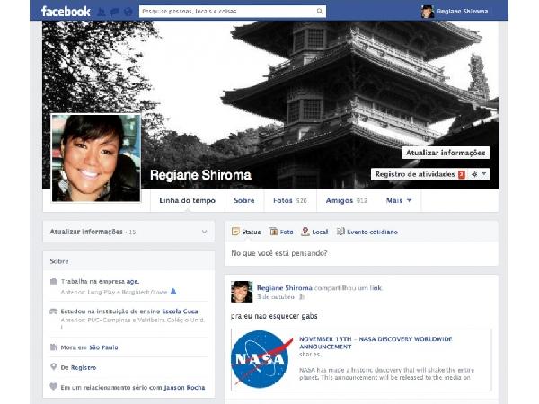 Face Book para pessoas desaparecidas (Foto Divulgação: Publicitarios)