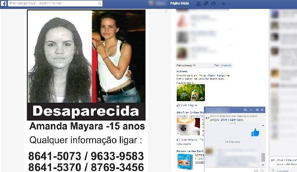 A foto com descrição do desaparecido ajuda nas buscas (Foto Divulgação: Folhape)