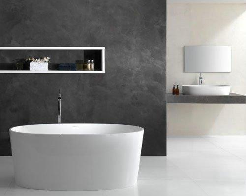 Banheiro moderno com banheira (Foto Divulgação: MdeMulher)