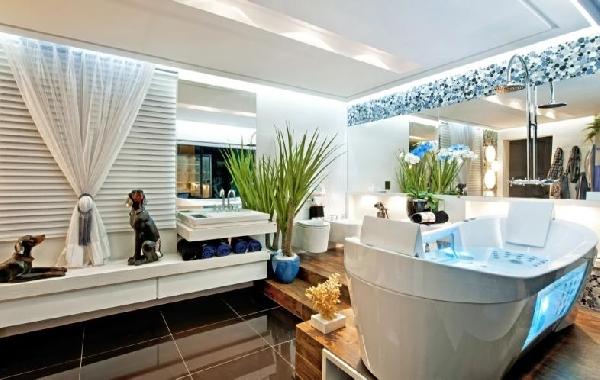 Banheiro estiloso (Foto Divulgação: MdeMulher)