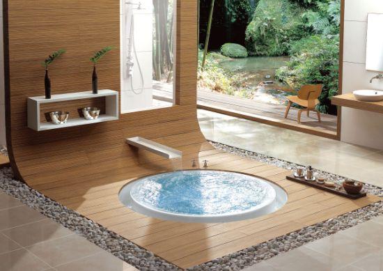 Banheiro com ofurô (Foto Divulgação: MdeMulher)