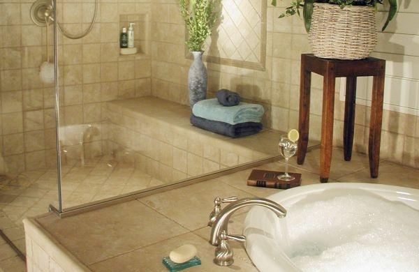 Banheiro sofisticado Banheiro com cores sóbrias (Foto Divulgação:  homedesignmodel.com)