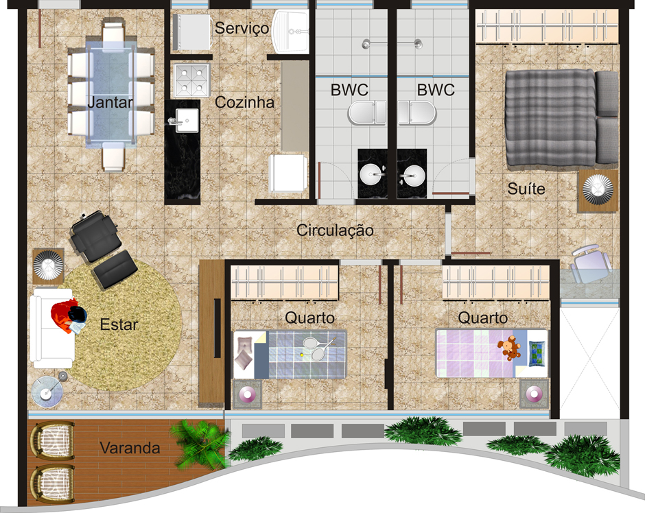 Separe bem os cômodos e espaços da casa (Foto: Tudo Construção)