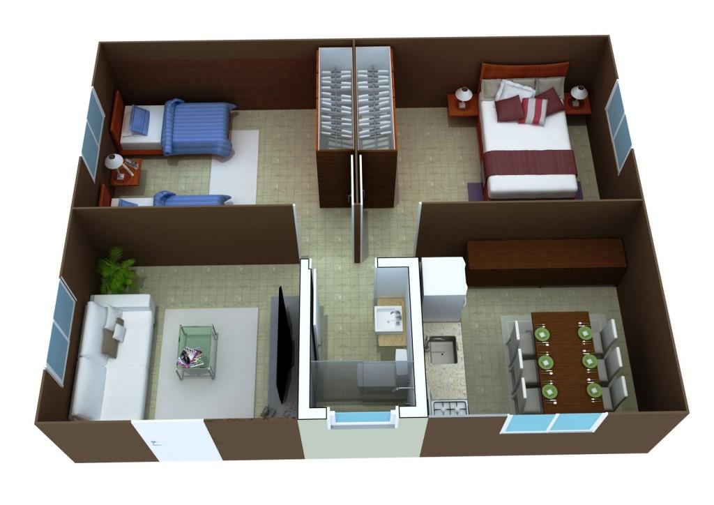 Plantas de casas mais de 50 modelos de plantas para for Modelo de casa pequena para construir