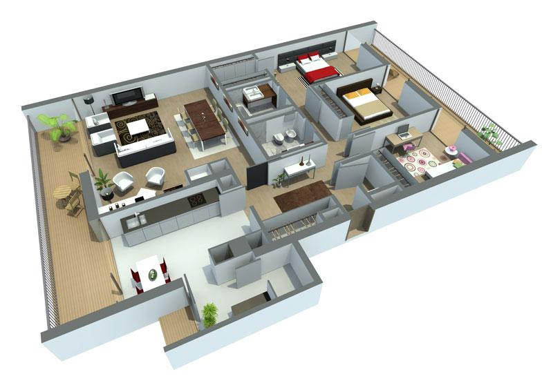 Assim é possível ter uma noção de como ficará a casa (Foto: Tudo Construção)