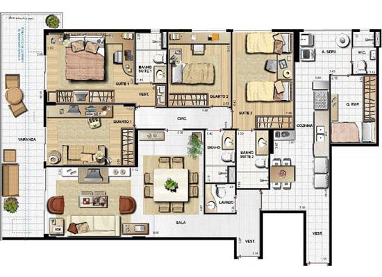 Para quem deseja uma casa grande (Foto: Tudo Construção)