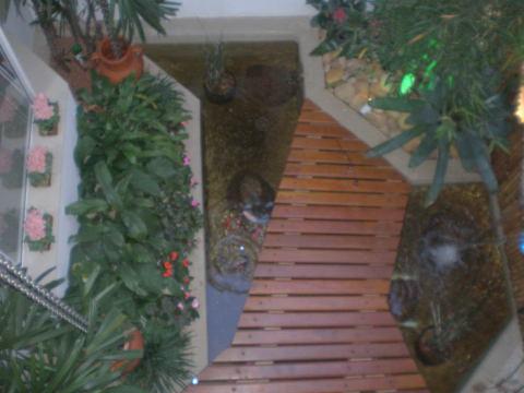 A madeira e o espelho d'água dão vida ao jardim de inverno (Foto Divulgação: Casa/Abril)