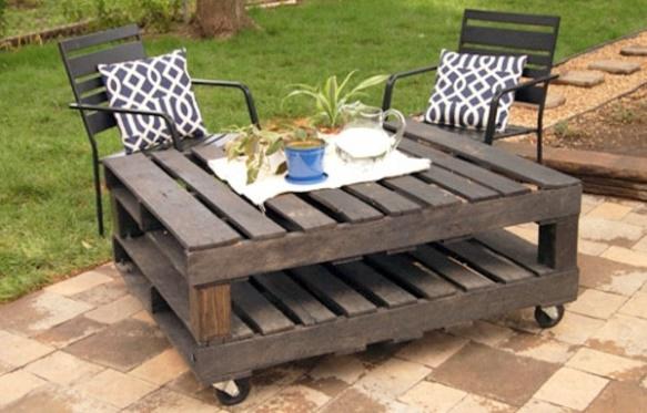 Mesa com pallets. (Foto: Reprodução/ AVSO)