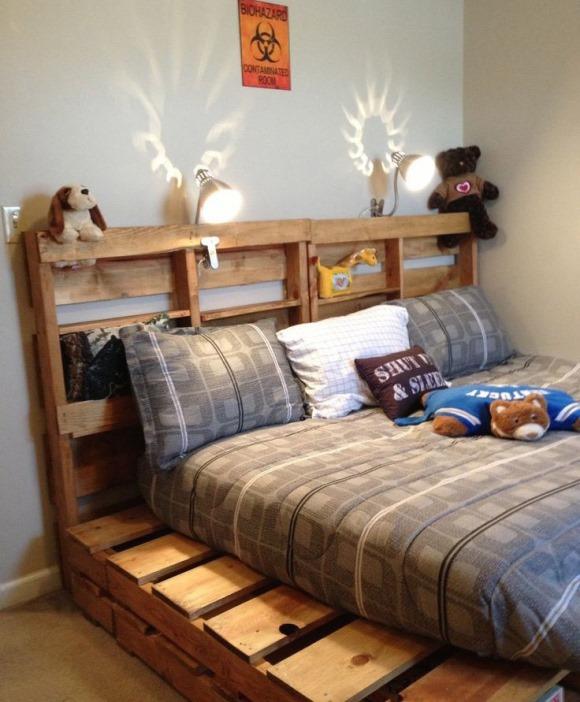 Mais um modelo inspirador de cama. (Foto: Reprodução/ Upcycled-wonders)