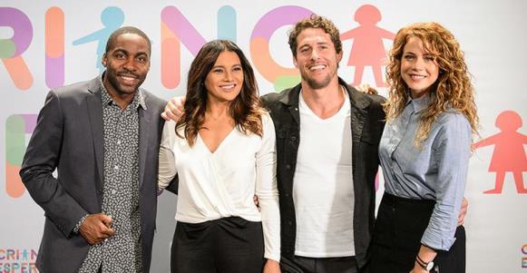 Quarteto que apresenta a campanha na Rede Globo. (Foto: Reprodução/Globo)