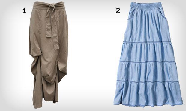 Saias coloridas de cintura alta (Foto: Mdemulher)
