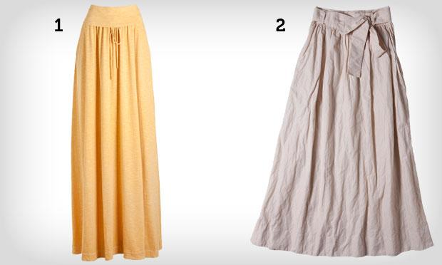 Saias diferentes de cintura alta (Foto: Mdemulher)