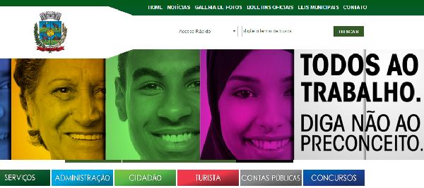 O site da Prefeitura oferece inúmeras informações sobre estágios (Foto Divulgação: Prefeitura Guarapuava)