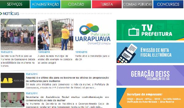 Prefeitura inscrições para estágio em Guarapuava 2016 (Foto Divulgação: Prefeitura Guarapuava)