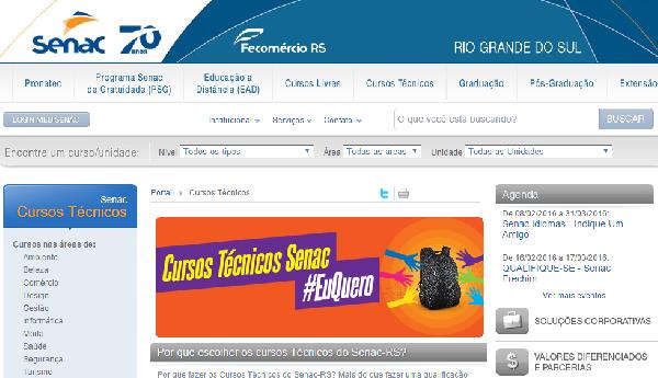 Senac RS oferece inúmeros cursos(Foto Divulgação: SENAC)
