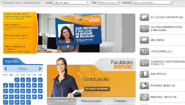O Senac disponibiliza cursos profissionalizantes e cursos à distância(Foto Divulgação: SENAC)
