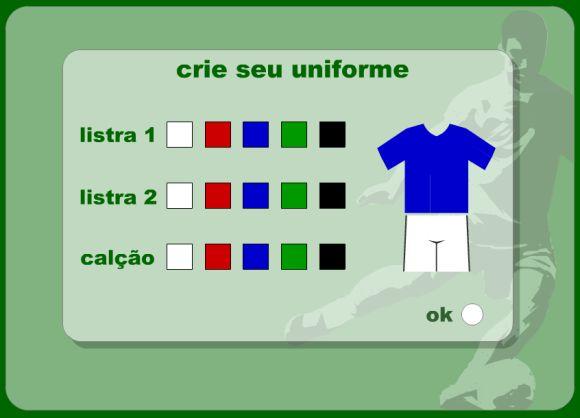 Escolhendo a cor do uniforme (Foto: Reprodução Globoesporte.com)