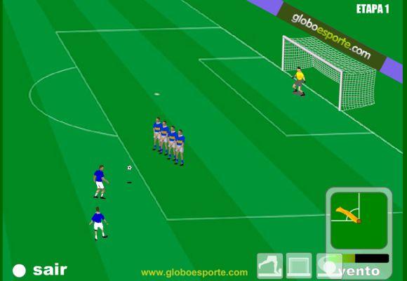 O desafio fica mais difícil à medida em que você marca gols (Foto: Reprodução Globoesporte.com)
