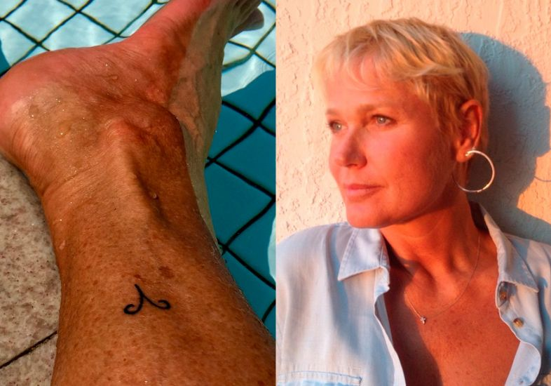 Xuxa feuz uma tatoo linda (Foto: MDeMUlher)